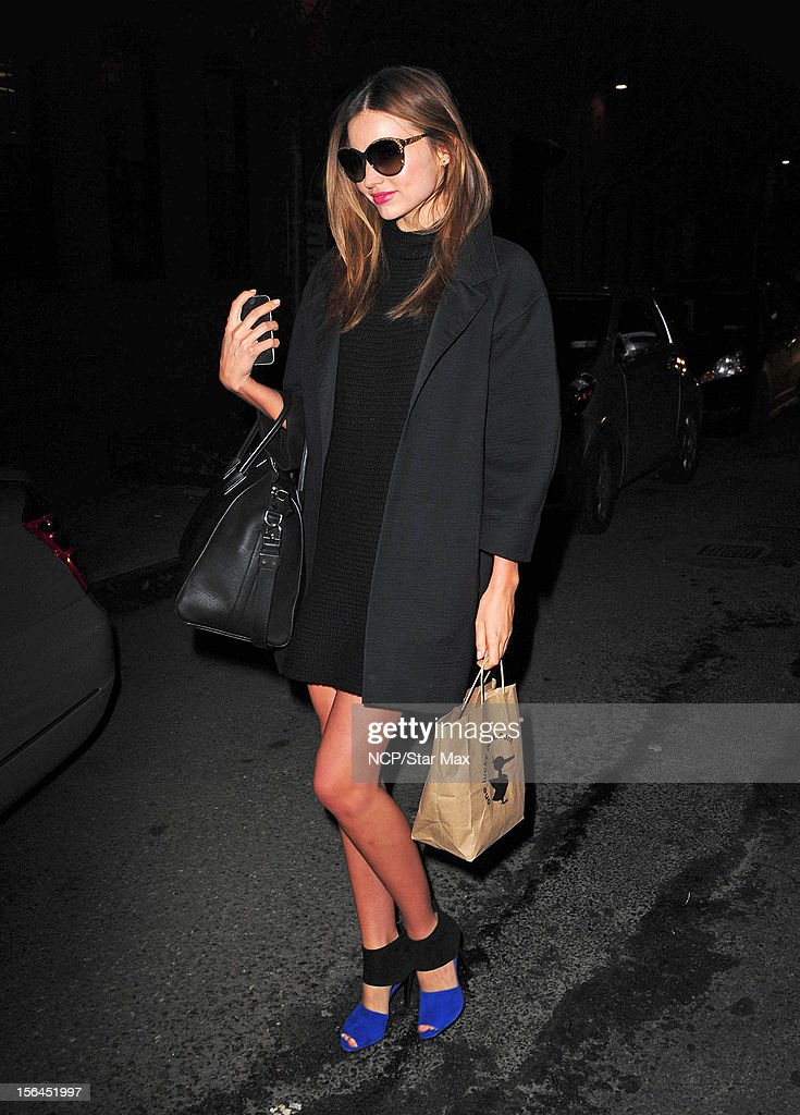 Model Miranda Kerr as seen on November 14, 2012 in New York City.