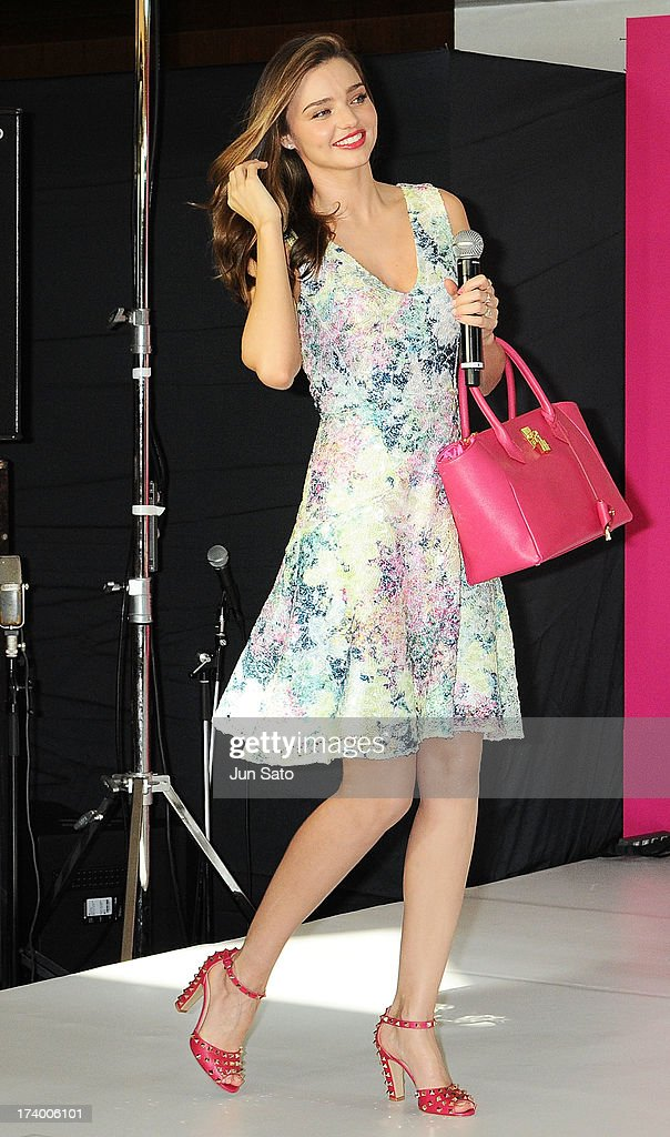 Model Miranda Kerr attends a press conference during the Samantha Thavasa Ladies Tournament at Eagle Point Golf Club on July 19, 2013 in Ami, Ibaraki, Japan.