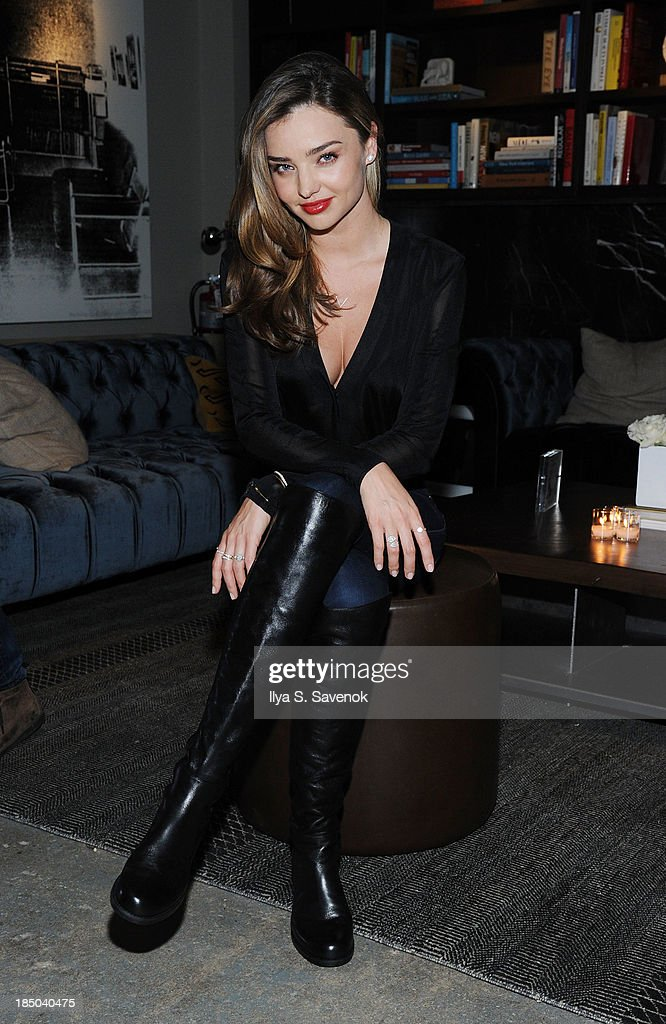 Model Miranda Kerr attends Gilt And Stuart Weitzman Celebrate The 5050 Boot 20th Anniversary on October 16, 2013 in New York City.