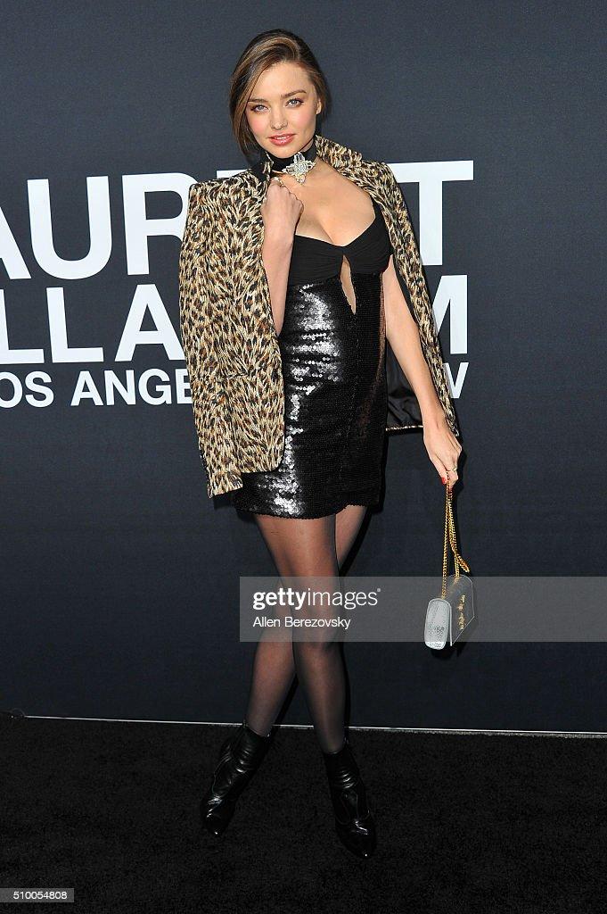 Model Miranda Kerr attends SAINT LAURENT At The Palladium at Hollywood Palladium on February 10, 2016 in Los Angeles, California.