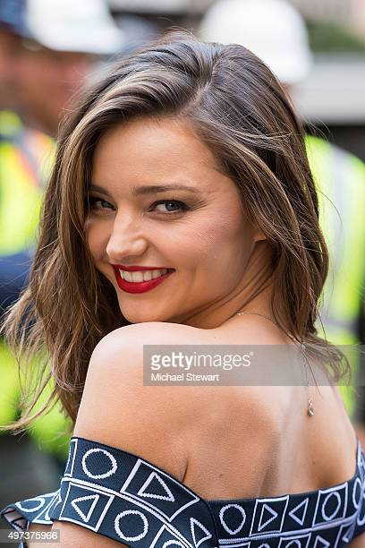Model Miranda Kerr attends Swarovski Star raising for 2015 Rockefeller Center Christmas Tree at Rockefeller Plaza on November 16 2015 in New York City