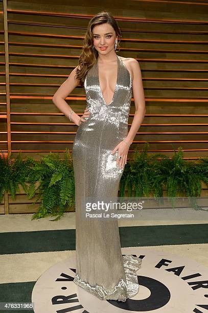 Model Miranda Kerr attends the 2014 Vanity Fair Oscar Party hosted by Graydon Carter on March 2 2014 in West Hollywood California