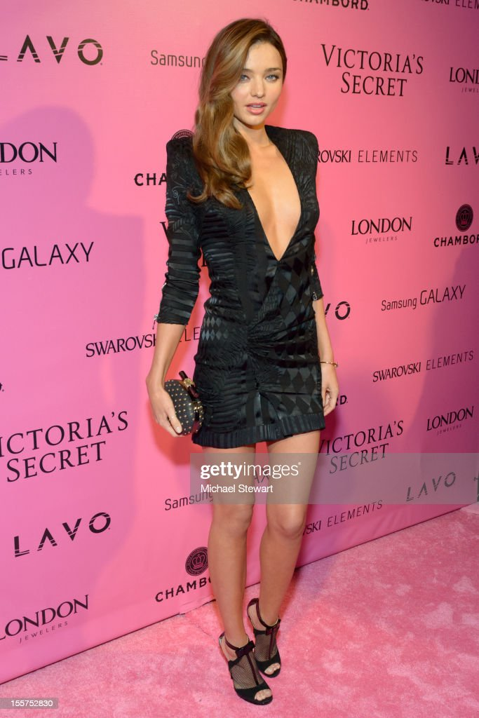 Model <a gi-track='captionPersonalityLinkClicked' href=/galleries/search?phrase=Miranda+Kerr&family=editorial&specificpeople=5714330 ng-click='$event.stopPropagation()'>Miranda Kerr</a> attends the after party for the 2012 Victoria's Secret Fashion Show at Lavo NYC on November 7, 2012 in New York City.