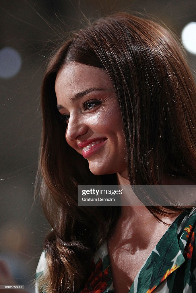 Model Miranda Kerr attends the David Jones S/S 2012/13 Season Launch at David Jones Castlereagh Street on August 14, 2012 in Sydney, Australia.