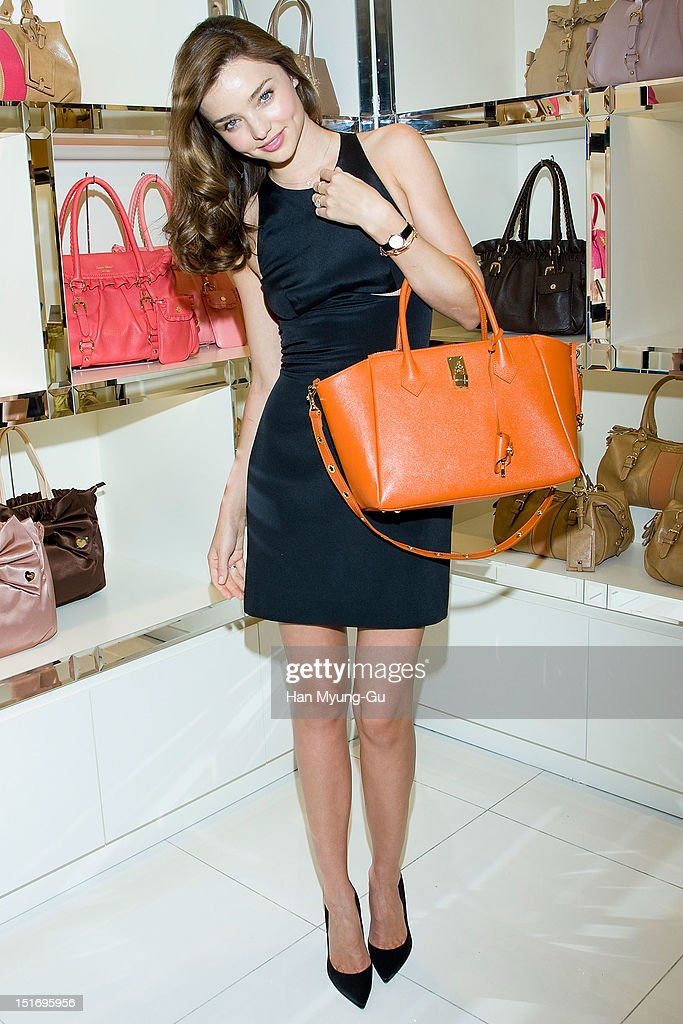 57451b6c30 ... Model Miranda Kerr attends the promotional event of Samantha Thavasa  handbags at Lotte Department Store on ...