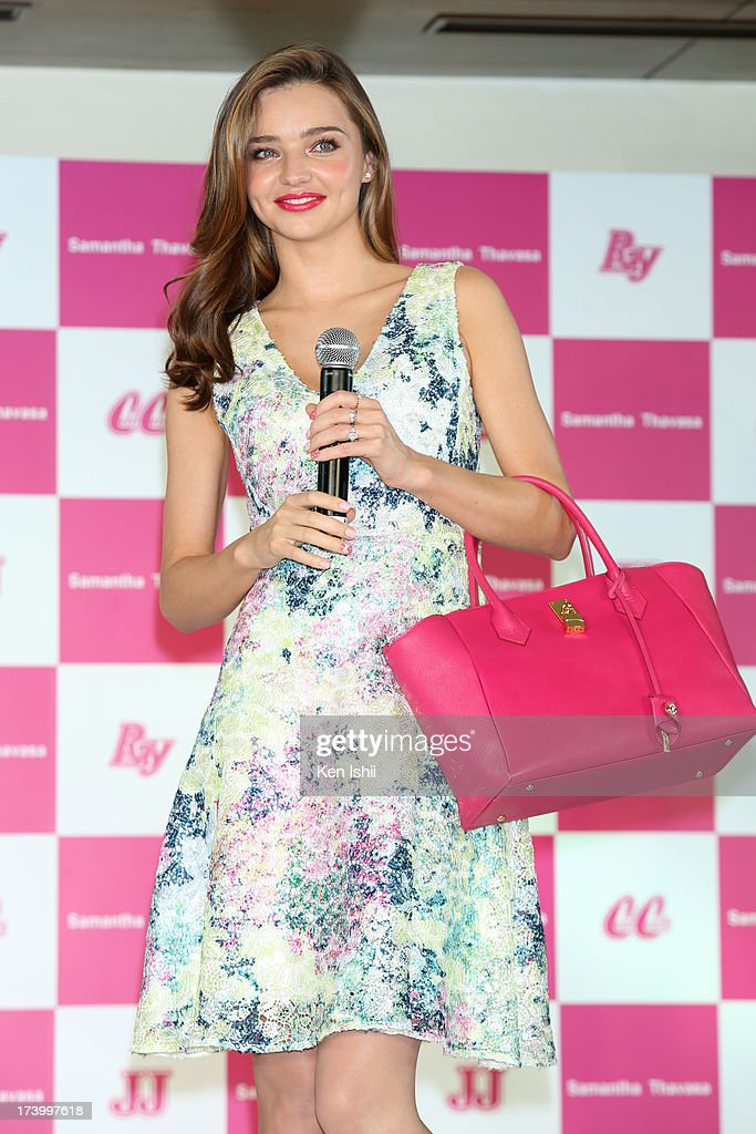 Model <a gi-track='captionPersonalityLinkClicked' href=/galleries/search?phrase=Miranda+Kerr&family=editorial&specificpeople=5714330 ng-click='$event.stopPropagation()'>Miranda Kerr</a> attends the Samantha Thavasa Ladies Tournament at Eagle Point Golf Club on July 19, 2013 in Ami, Ibaraki, Japan.