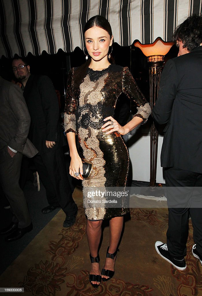 """Model Miranda Kerr attends W Magazine's 'Best Performances Issue"""" and the Golden Globe Awards celebration with W Magazine, Cadillac and Dom Pérignon at Chateau Marmont on January 11, 2013 in Los Angeles, California."""