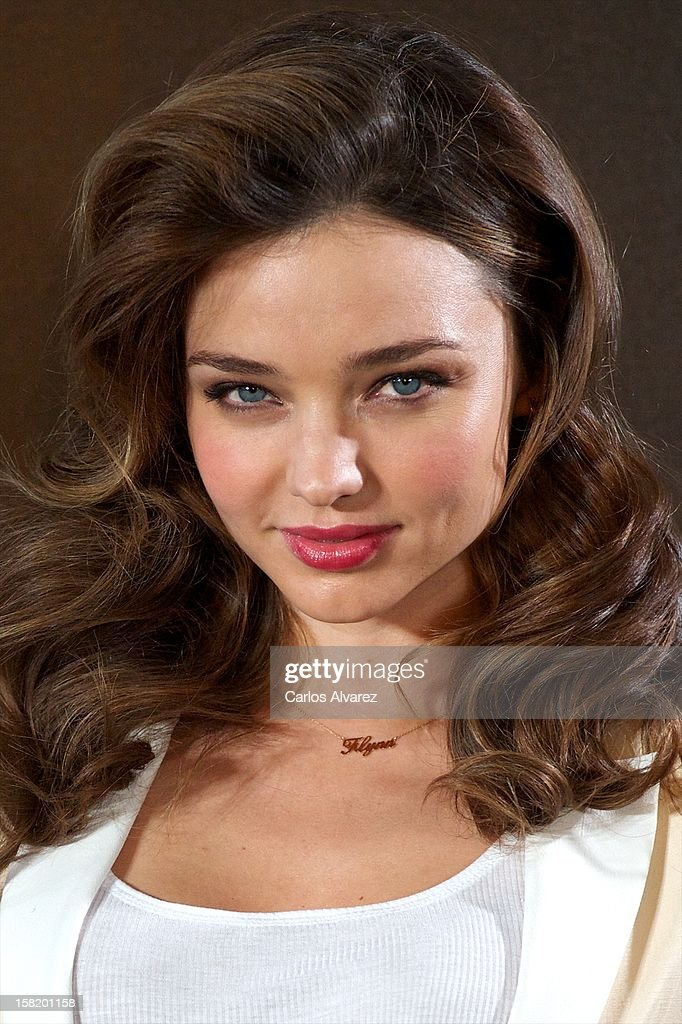 Model Miranda Kerr is announced as the new Face of Mango at the Villamagna Hotel on December 11, 2012 in Madrid, Spain.