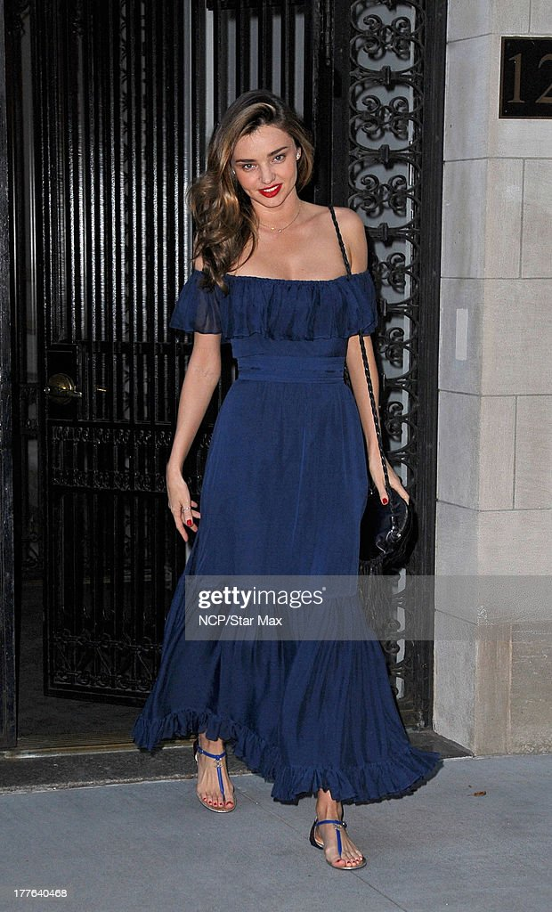Model <a gi-track='captionPersonalityLinkClicked' href=/galleries/search?phrase=Miranda+Kerr&family=editorial&specificpeople=5714330 ng-click='$event.stopPropagation()'>Miranda Kerr</a> is seen on August 24, 2013 in New York City.