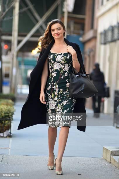 Model Miranda Kerr is seen on March 26 2014 in New York City