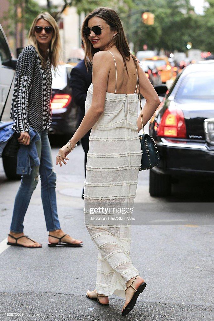 Model Miranda Kerr is seen on September 16, 2013 in New York City.