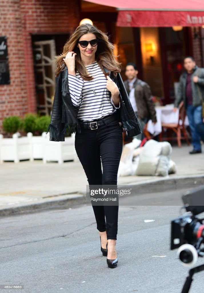 Model <a gi-track='captionPersonalityLinkClicked' href=/galleries/search?phrase=Miranda+Kerr&family=editorial&specificpeople=5714330 ng-click='$event.stopPropagation()'>Miranda Kerr</a> is seen on the set of a photoshoot on April 8, 2014 in New York City.