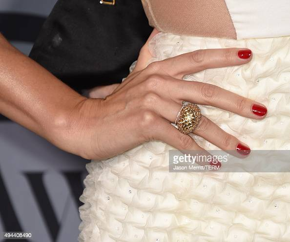 Model Miranda Kerr jewelry detail attends the InStyle Awards at Getty Center on October 26 2015 in Los Angeles California