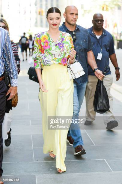 Model Miranda Kerr leaves the 'Today Show' taping at the NBC Rockefeller Center Studios on September 13 2017 in New York City