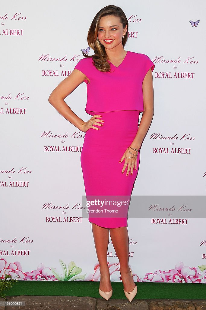 Model <a gi-track='captionPersonalityLinkClicked' href=/galleries/search?phrase=Miranda+Kerr&family=editorial&specificpeople=5714330 ng-click='$event.stopPropagation()'>Miranda Kerr</a> poses during a public appearance to discuss her Royal Albert teaware range on May 16, 2014 in Sydney, Australia.