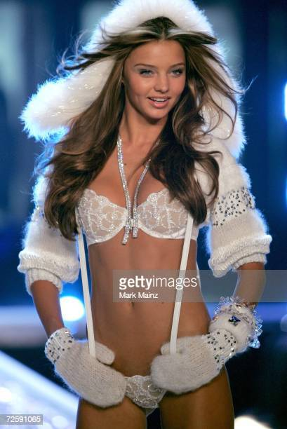 Model Miranda Kerr walks the runway during the Victoria's Secret Fashion Show held at the Kodak Theatre on November 16 2006 in Hollywood California...