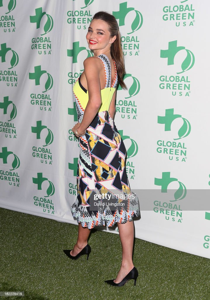 Model <a gi-track='captionPersonalityLinkClicked' href=/galleries/search?phrase=Miranda+Kerr&family=editorial&specificpeople=5714330 ng-click='$event.stopPropagation()'>Miranda Kerr</a>attends Global Green USA's 10th Annual Pre-Oscar Party at Avalon on February 20, 2013 in Hollywood, California.
