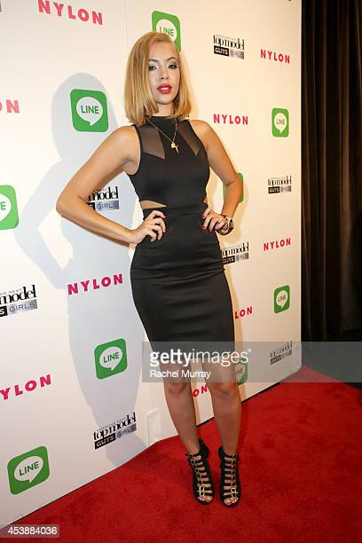 Model Mirjana Puhar attends America's Next Top Model Cycle 21 premiere party presented by NYLON and LINE at SupperClub Los Angeles on August 20 2014...