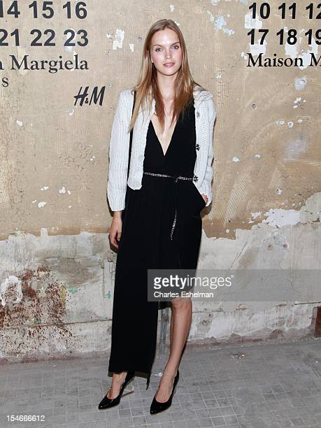 Model Mirte Maas attends the Maison Martin Margiela HM Global launch party at 5 Beekman on October 23 2012 in New York City