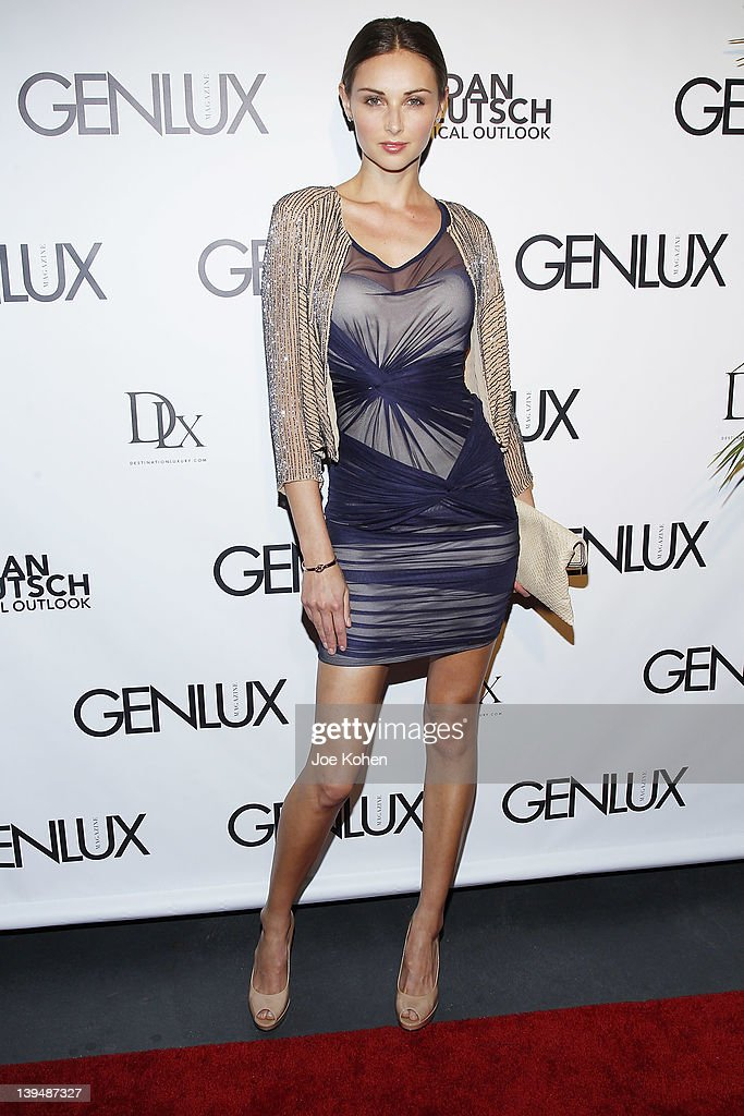 Model Model Ludi Delfino attends the Night Of 'BB Forever: Brigitte Bardot, The Legend' at Sofitel Hotel on February 21, 2012 in Los Angeles, California.