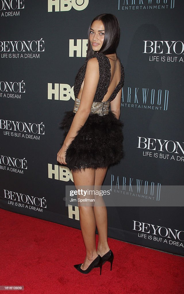 Model Model Shanina Shaik attends 'Beyonce: Life Is But A Dream' New York Premiere at Ziegfeld Theater on February 12, 2013 in New York City.