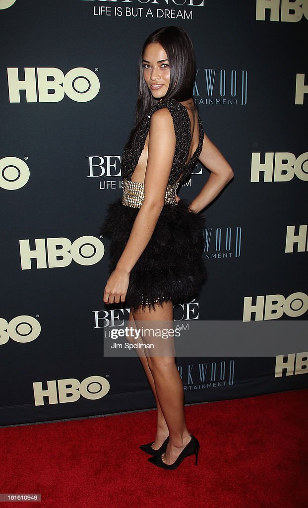 Model Model Shanina Shaik attends 'Beyonce: Life Is But A Dream' New York Premiere at Ziegfeld Theater on February 12, 2013 in New York City. (Photo by Jim Spellman/WireImage