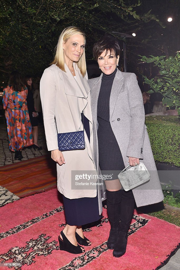 Model Molly Sims and TV Personality Kris Jenner attend Barneys New York Jennifer Aniston and Tobey Maguire host a private dinner to celebrate The...
