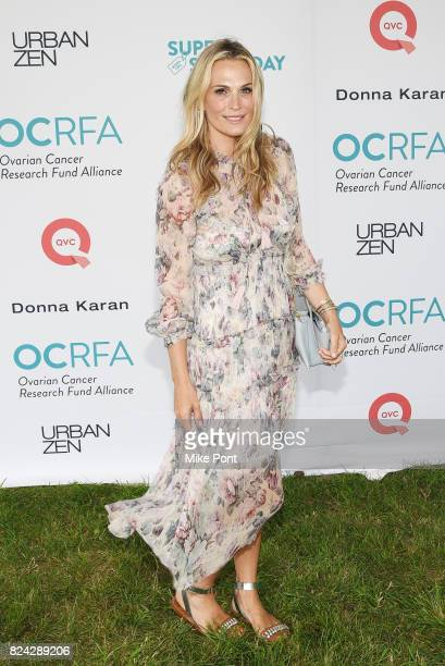 Model Molly Sims attends OCRFA's 20th Annual Super Saturday to Benefit Ovarian Cancer on July 29 2017 in Watermill New York