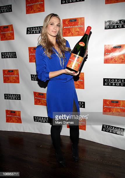 Model Molly Sims attends the 2010 Georges Duboeuf Beaujoliais Nouveau at District 36 on November 18 2010 in New York City