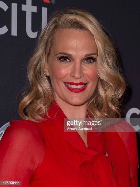 Model Molly Sims attends The Grove Christmas with Seth MacFarlane at The Grove on November 14 2015 in Los Angeles California