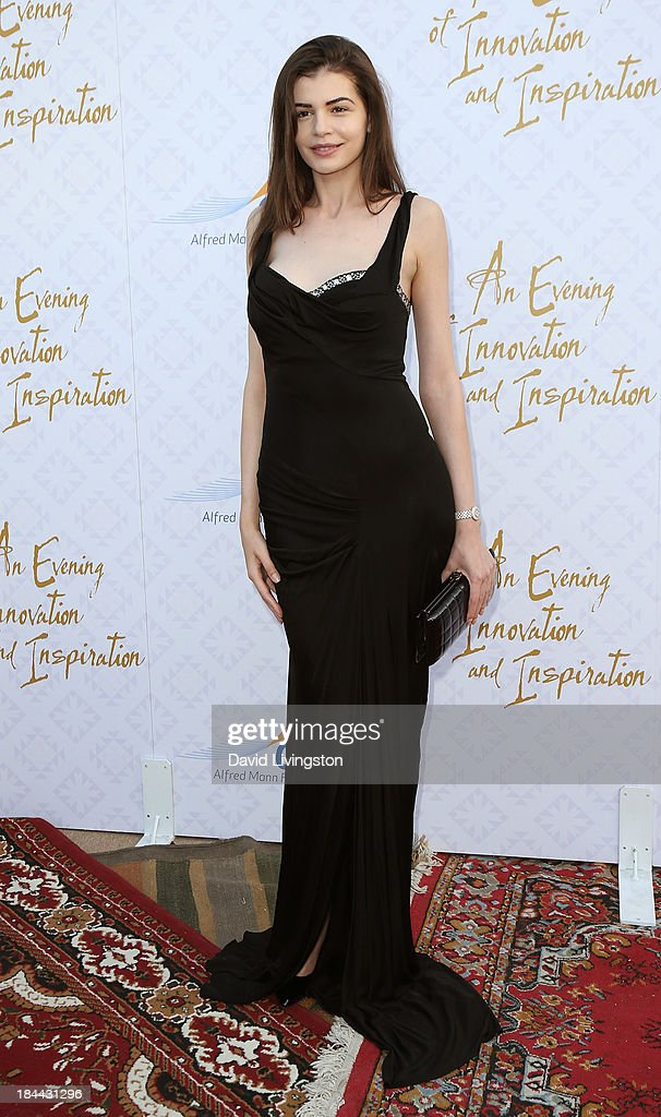 Model Monica Gabor attends the 10th Annual Alfred Mann Foundation Gala in the Robinsons-May Lot on October 13, 2013 in Beverly Hills, California.