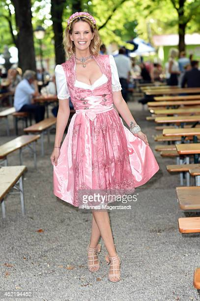 Model Monica Ivancan attends the Sixt ladies dirndl dinner on July 15 2014 in Munich Germany