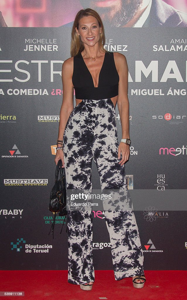 Model Monica Pont attends the 'Nuestros Amantes' premiere at Palafox cinema on May 30, 2016 in Madrid, Spain.