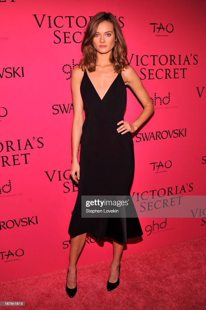 Model Monika Jagaciak attends the 2013 Victoria's Secret Fashion after party at TAO Downtown on November 13, 2013 in New York City.