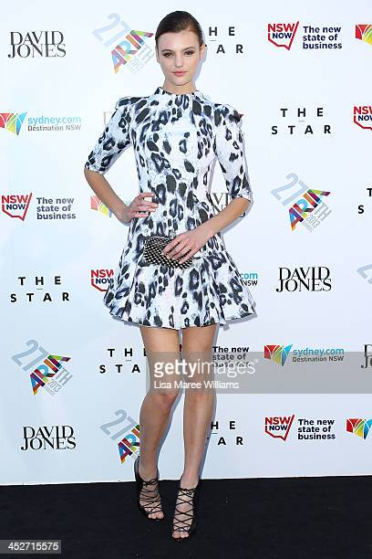 Model Montana Cox arrives at the 27th Annual ARIA Awards 2013 at the Star on December 1 2013 in Sydney Australia