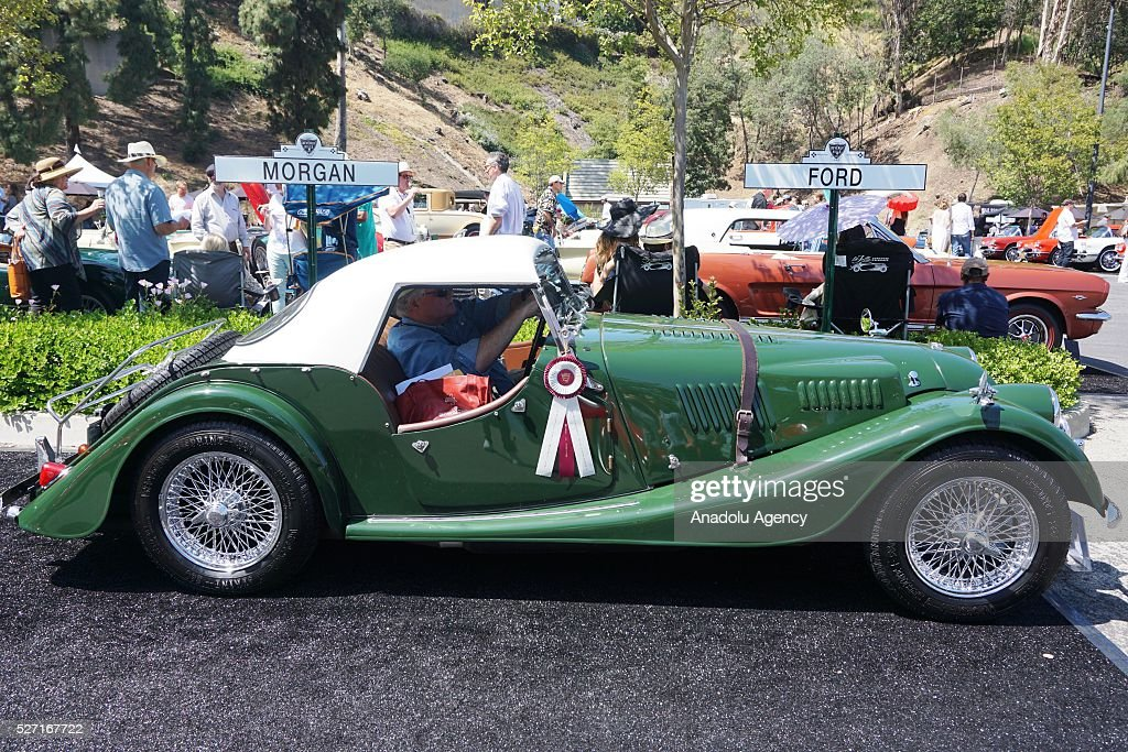 1967 model Morgan Plus 4 is on display during Concours d'Elegance at Greystone Mansion in Beverly Hills, Los Angeles, USA, on May 2, 2016. 140 classic automobiles from 18 different categories are displayed during the Concours d'Elegance classic automobile show.