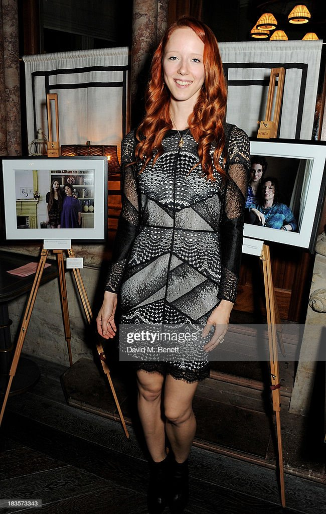 Model Morwenna Lytton Cobbold attends the 'Models & Mothers' private view, an exhibition of her photographs, at The Gilbert Scott restaurant in the St Pancras Renaissance Hotel on October 7, 2013 in London, England.