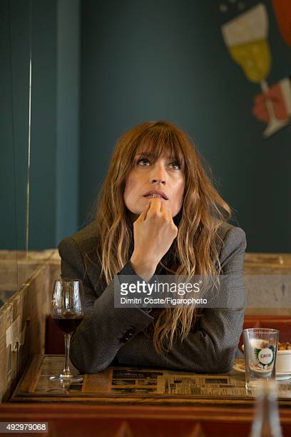 Model music producer and actress Caroline de Maigret is photographed for Madame Figaro on July 9 2015 in Paris France Jacket shirt CREDIT MUST READ...