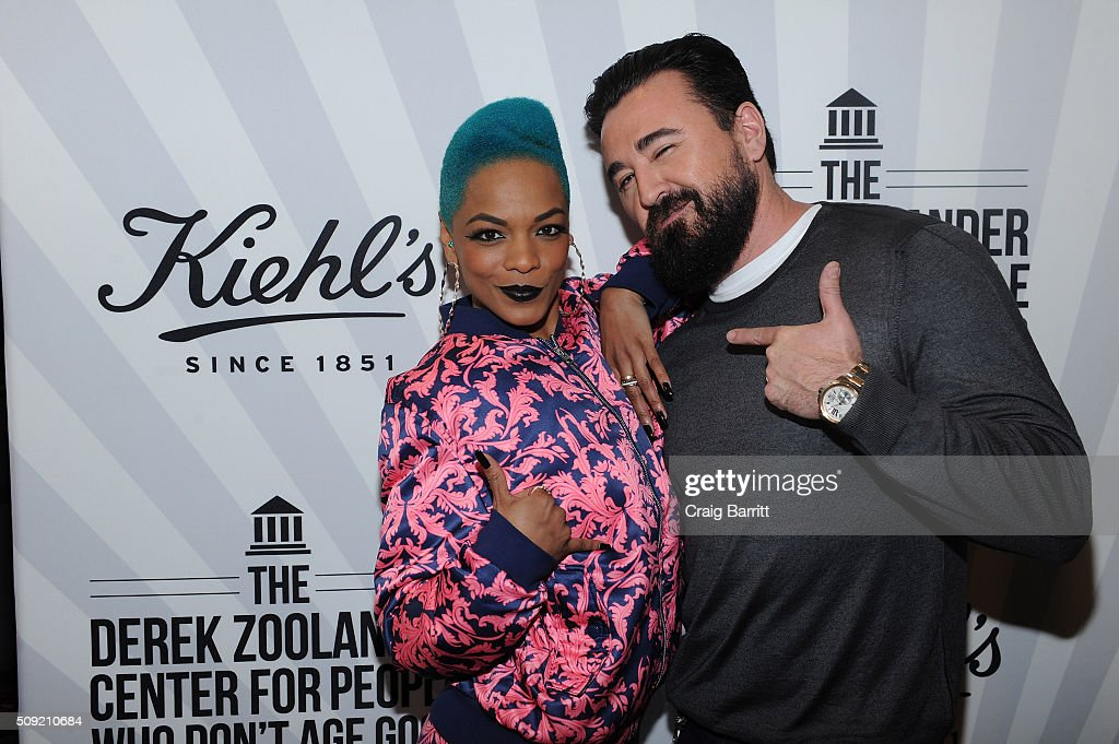 Model/ Musician <a gi-track='captionPersonalityLinkClicked' href=/galleries/search?phrase=Sharaya+J&family=editorial&specificpeople=12570876 ng-click='$event.stopPropagation()'>Sharaya J</a> and Kiehl's CEO <a gi-track='captionPersonalityLinkClicked' href=/galleries/search?phrase=Chris+Salgardo&family=editorial&specificpeople=5384803 ng-click='$event.stopPropagation()'>Chris Salgardo</a> attend Kiehl's Zoolander Center Opening on February 9, 2016 in New York City.