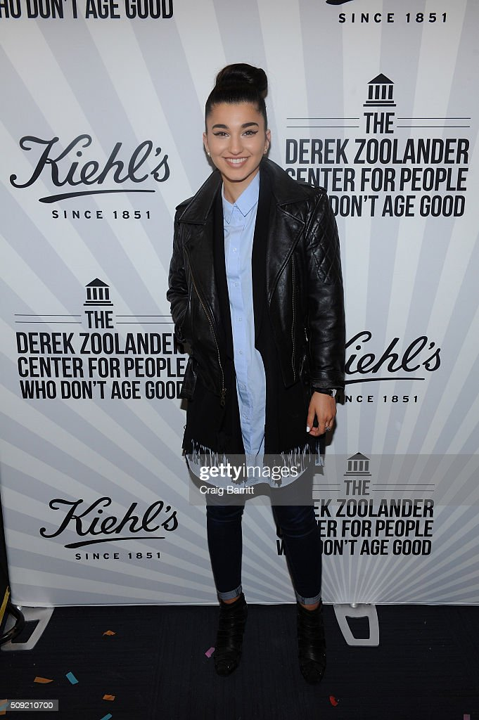 Model/ Musucian Enisa attends Kiehl's Zoolander Center Opening on February 9, 2016 in New York City.