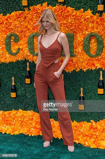 Model Nadine Leopold attends 9th Annual Veuve Clicquot Polo Classic at Liberty State Park on June 4 2016 in Jersey City New Jersey