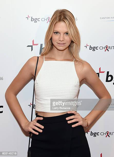 Model Nadine Leopold attends Annual Charity Day hosted by Cantor Fitzgerald BGC and GFI at BGC Partners INC on September 12 2016 in New York City