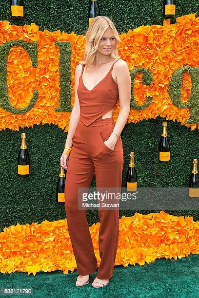 Model Nadine Leopold attends the 2016 Veuve Clicquot Polo Classic at Liberty State Park on June 4 2016 in Jersey City New Jersey