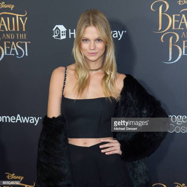 Model Nadine Leopold attends the 'Beauty And The Beast' New York screening at Alice Tully Hall at Lincoln Center on March 13 2017 in New York City