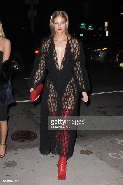 Model Nadine Leopold is seen on November 28 2017 in New York City