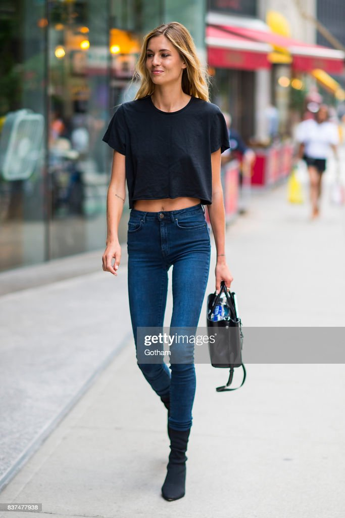 Model Nadja Bender attends call backs for the 2017 Victoria's Secret Fashion Show in Midtown on August 22, 2017 in New York City.