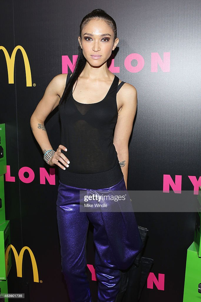 Model <a gi-track='captionPersonalityLinkClicked' href=/galleries/search?phrase=Naima+Mora&family=editorial&specificpeople=601257 ng-click='$event.stopPropagation()'>Naima Mora</a> attends NYLON + McDonald's Dec/Jan issue launch party, hosted by cover star Demi Lovato on December 5, 2013 in West Hollywood, California.