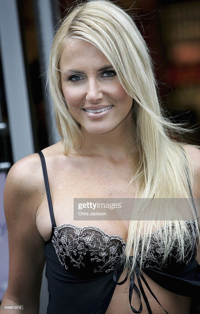 Model Nancy Sorrell, wife of comedian Vic Reeves, launches 'Nancy's Naughty Knickers,' her second range of sexy black lingerie, at Ann Summers October 24, 2005 in London, England.