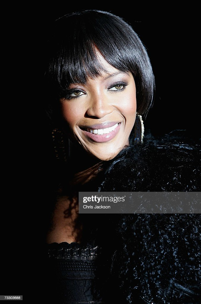 Model Naomi Cambell arrives at the Elle Style Awards at the Round House Camden on February 12, 2007 in London, England