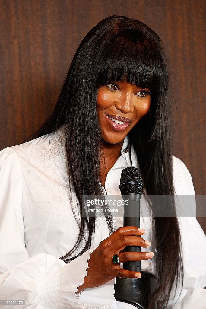 Model <a gi-track='captionPersonalityLinkClicked' href=/galleries/search?phrase=Naomi+Campbell&family=editorial&specificpeople=171722 ng-click='$event.stopPropagation()'>Naomi Campbell</a> addresses guests at a Japanese Tea ceremony held to acknowledge her donation to help with post-tsunami rebuild at the Consulate General of Japan on November 30, 2013 in Sydney, Australia.